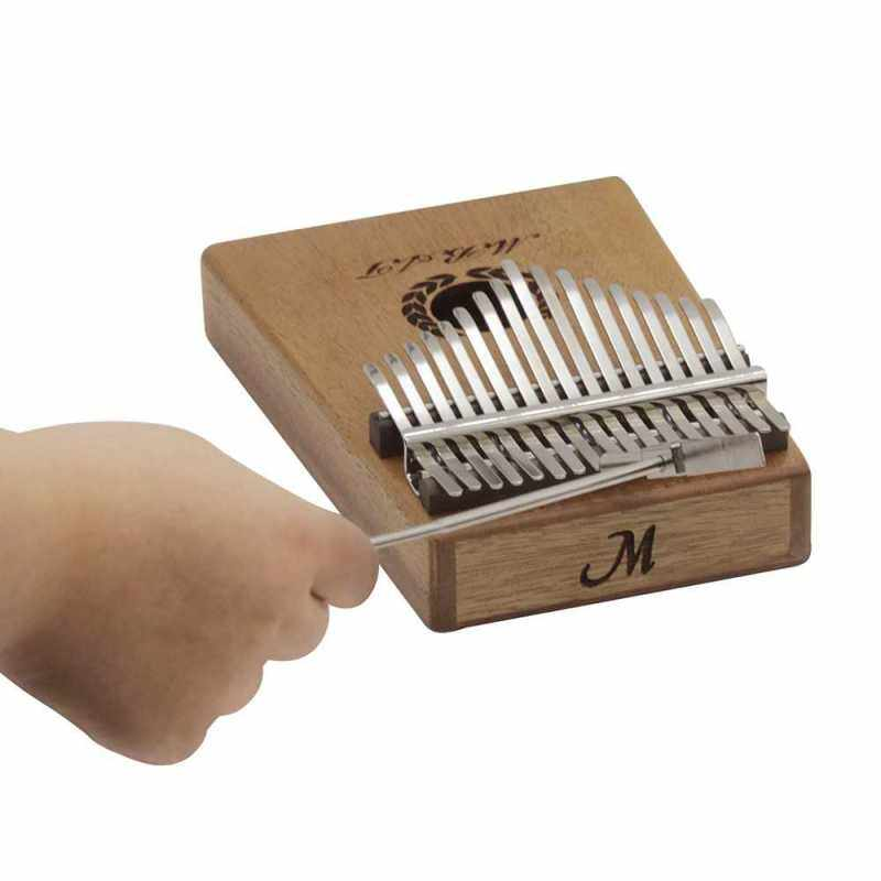 Portable 17-key Kalimba Thumb Piano Mbira Mahogany Wood with Storage Case Carry Bag Stickers Tuning Hammer Cleaning Cloth Finger Stall Musical Gift () Malaysia
