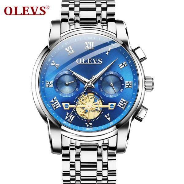 OLEVS Đồng hồ cho nam chất lượng thép không gỉ không thấm nước - INTL bán chạy