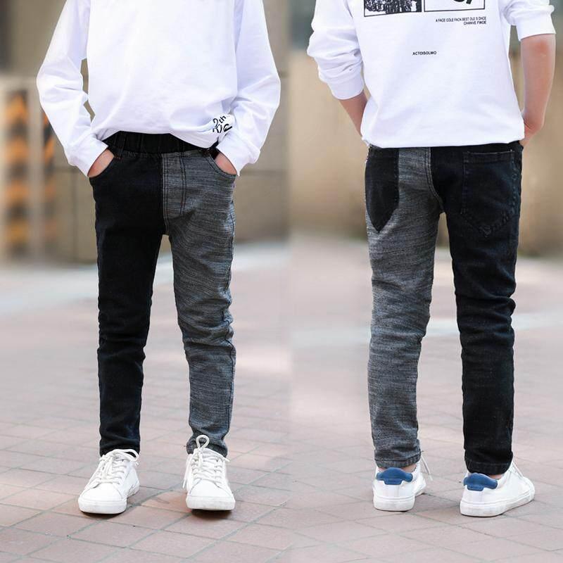 ae8acb56d IENENS 5-15 Years Kids Boys Slim Straight Jeans Children Denim Clothing  Long Pants Spring