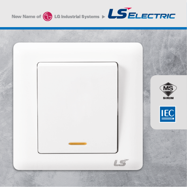 LS V5 Series 20A DP Switch with Neon Indicator (use for air-cond / water heater)
