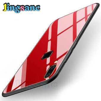 Jingsanc สำหรับ VIVO Y91 บางเฉียบยากเคสหลัง HYBRID แก้ว + วัสดุ TPU เคสโทรศัพท์