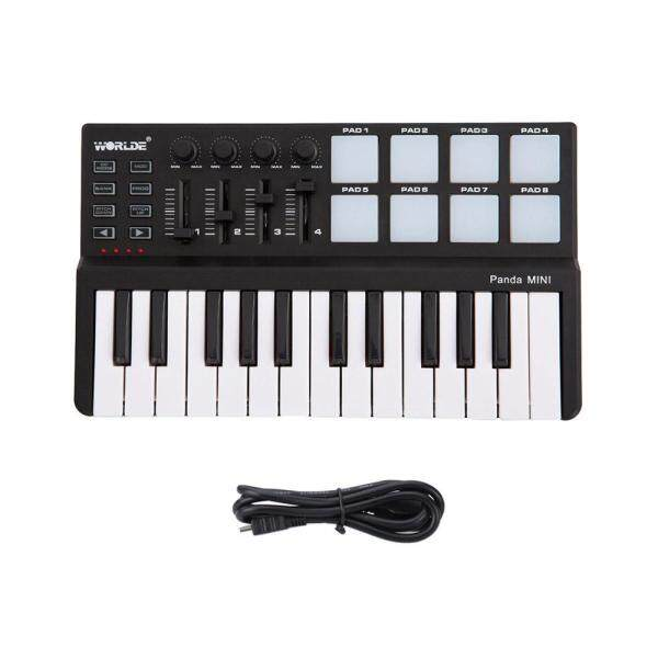 Worlde Panda mini Portable Mini 25-Key USB Keyboard and Drum Pad MIDI Controller Malaysia