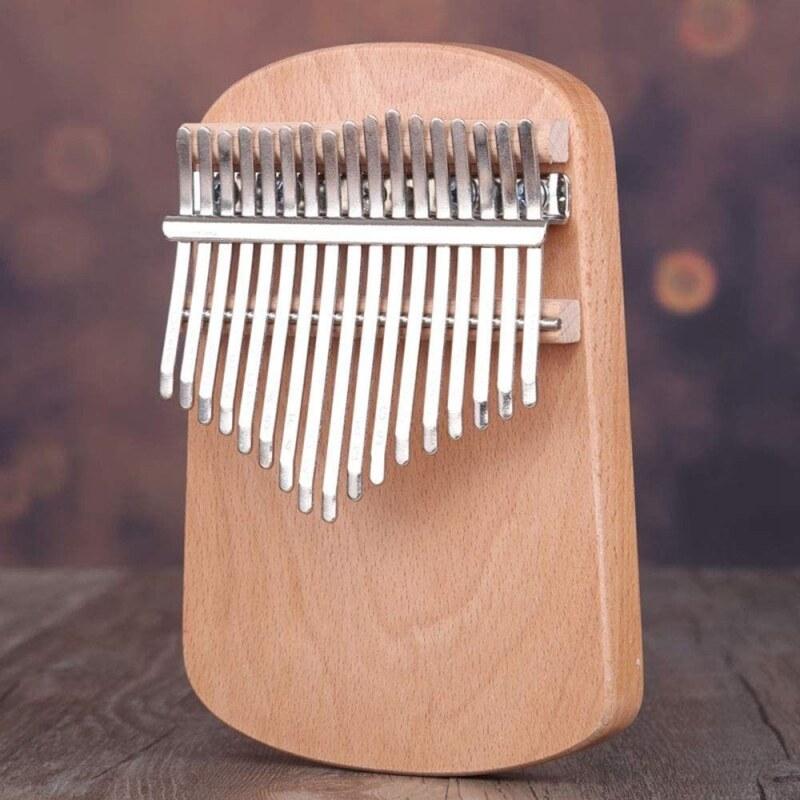 17-Key Thumb Piano, Kalimba 17-Tone Finger Piano Veneer Thumb Piano Beginner Portable Instrument Thumb Piano