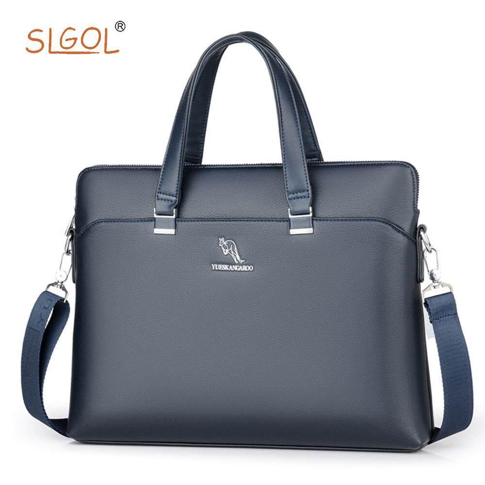 Mens Casual Business Crossbody Handbag Male Laptop Computer Briefcases Mens Shoulder Messenger Bags Directed By SLGOL