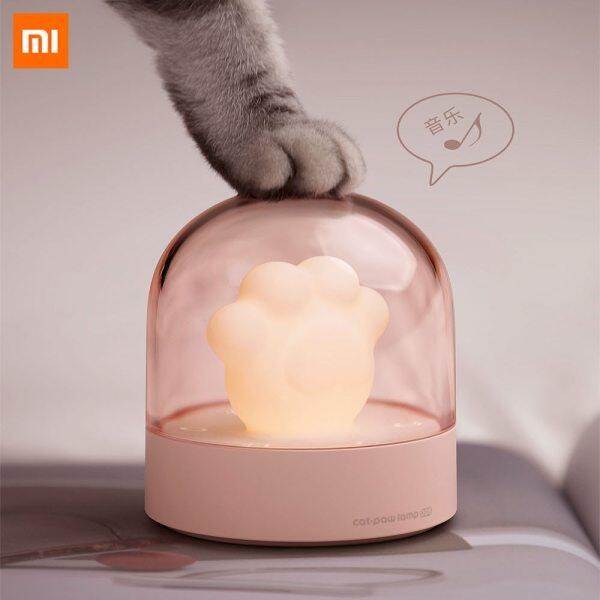 Xiaomi 3 Cuộc Sống Đèn Ban Đêm Đèn LED Môi Trường Xung Quanh Phim Hoạt Hình Dễ Thương Mèo Hình Dạng Móng Vuốt Cạnh Giường Ngủ Musical Đèn Cats Paw Đèn Cho Nhà Thông Minh Sử Dụng