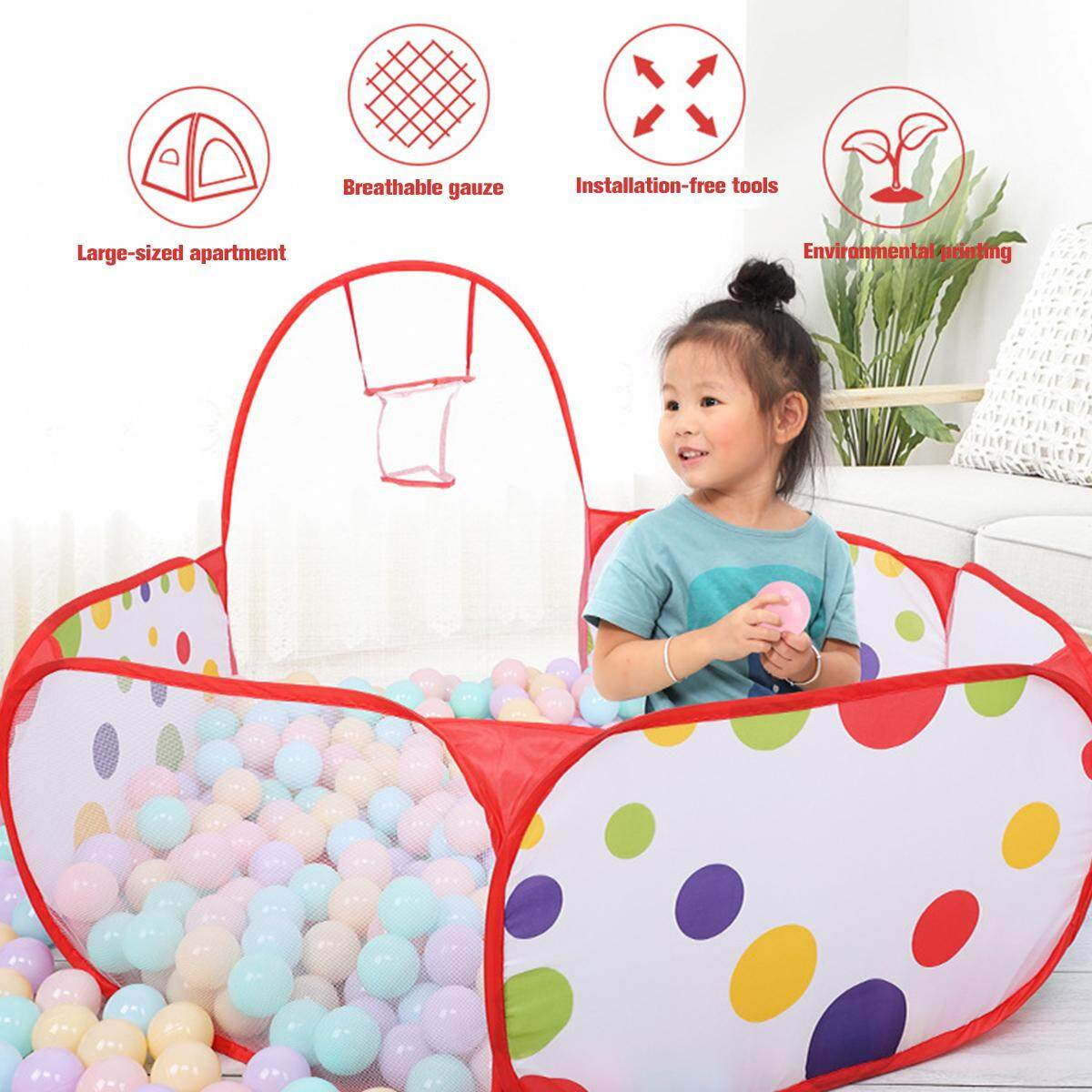 Ball Pool Game Tent Children Folding Indoor Toys Ocean Ball Toy Game House Baby Bobo Pool Kids Tent By Audew.