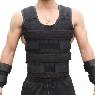 Loading Weight Vest for Boxing Weight Training Workout Fitness Gym Equipment Adjustable Waistcoat Jacket Sand Clothing thumbnail