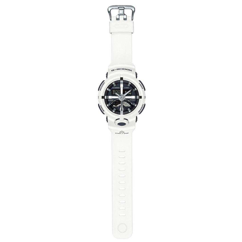 ร้อยเอ็ด 【 STOCK】Original _ Casio_G-Shock GA110 Duo W/เวลา 200M กันน้ำกันกระแทกและกันน้ำโลกนาฬิกากีฬาไฟแอลอีดีอัตโนมัติ Wist นาฬิกากีฬาสำหรับ MenWhite GA-500-7A