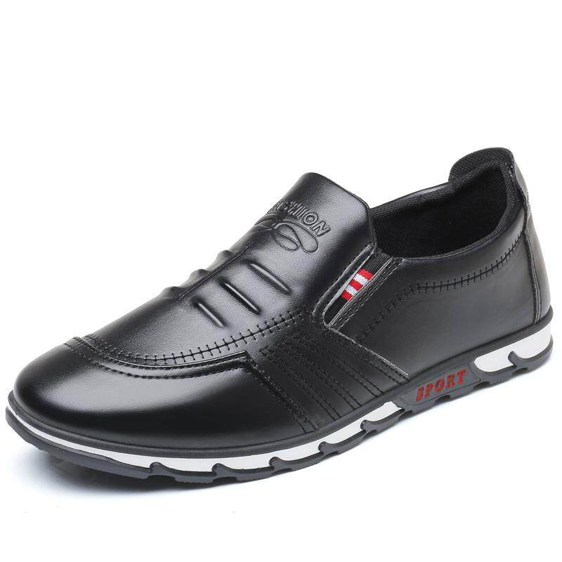 90ec8ab8f13d Breathable Men s Casual Leather Shoes Slip on Formal Dress Shoes Business  Driving Shoes