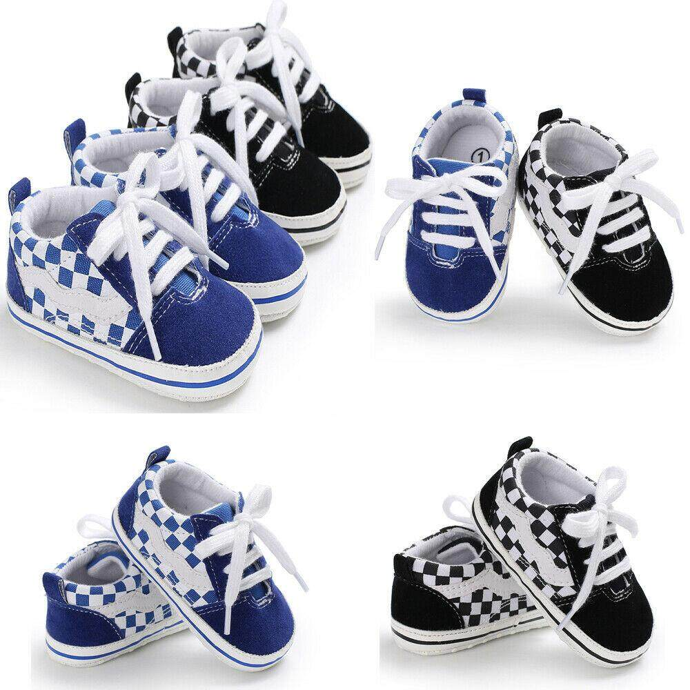 b6374a755 Cute Newborn Baby Boy Girl Crib Shoes Canvas Soft Sole Pram Anti-slip  Sneaker