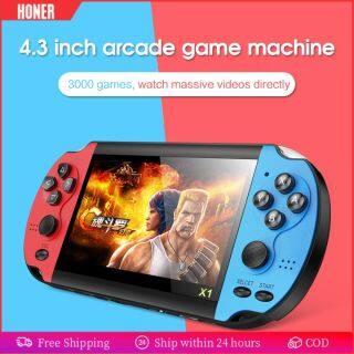 HONER -- X1 Tích Hợp 10000 Trò Chơi Máy Chơi Game Cầm Tay Video Di Động Máy Chơi Game Cầm Tay Hoài Cổ Cổ Điển Dual-Shake Máy Chơi Game Cầm Tay 4.3 Inch 8GB thumbnail