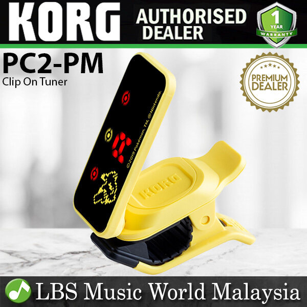 Korg PC2-PM Pitchclip 2 Clip On Tuner for Music Intrument Guitar Pokemon Pikachu (PC2 PM) Malaysia
