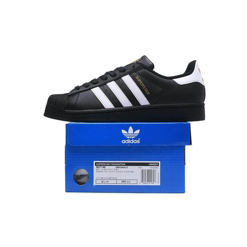 1c5d680c311 adidas original superstar black white for men women skateboard shoe size 36- 44