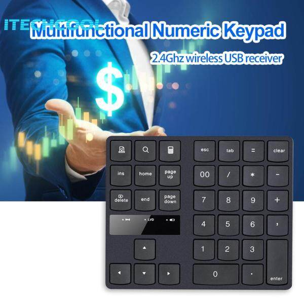 ABS Raw Material 35 Keys Wireless Digital Keyboard 2.4GHz Numeric Keypad for Accounting Teller Singapore