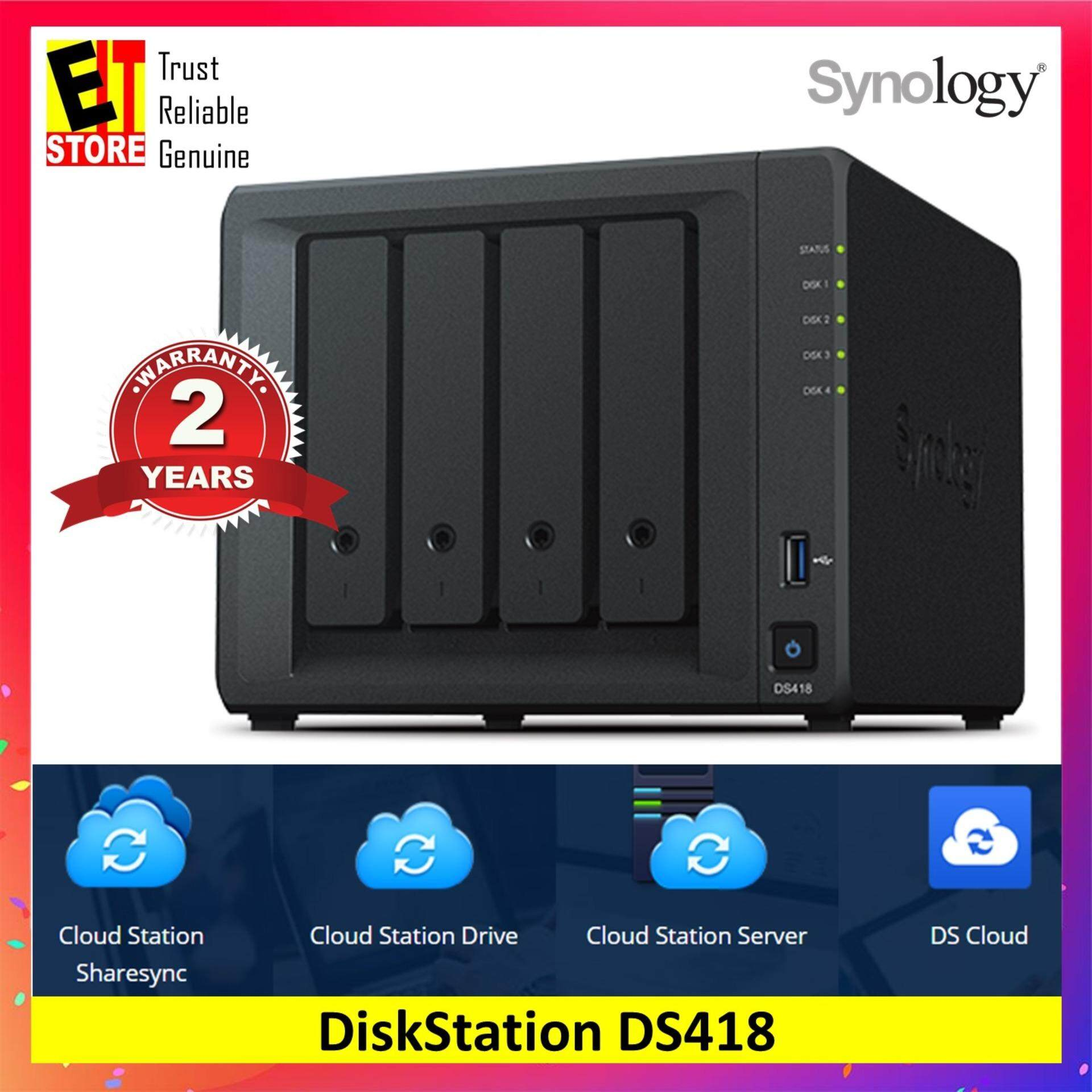Synology Ds418 Nas Diskstation 4-Bays By Eit Store.
