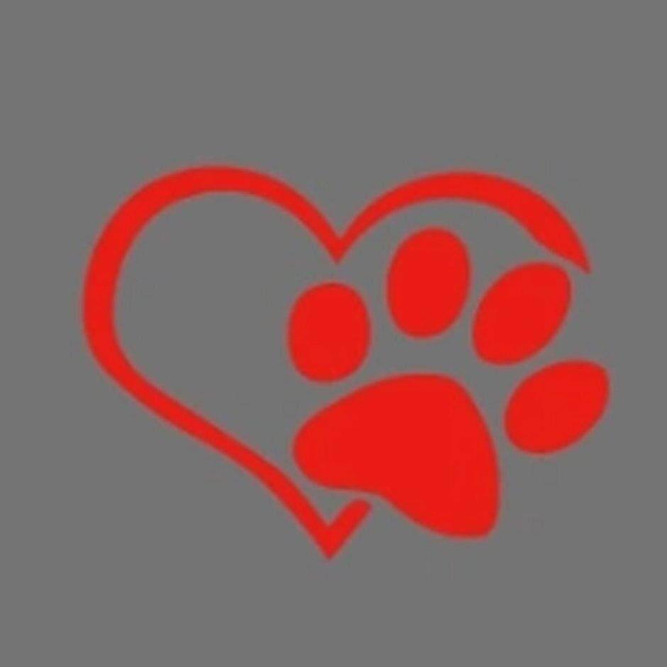 Penjualan Terbaik Anjing Bentuk Hati Pola Cakar Stiker Mobil Jejak Reflektif 3D Stiker Decal
