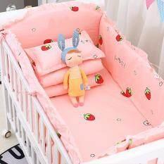 Nôi Wai Đồ Giường Cho Trẻ Sơ Sinh 4 Chiếc Giường Bằng Vải Bông + 1 Bộ Ga Giường Có Thể Giặt 5 Chiếc