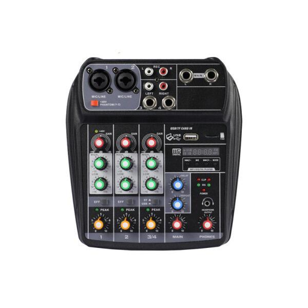 ELM 4-Kênh Chuyên Nghiệp Drembo M-6 Máy Xay Cỡ Nhỏ Âm Thanh DJ Giao Diện Điều Khiển Với Card Âm Thanh USB