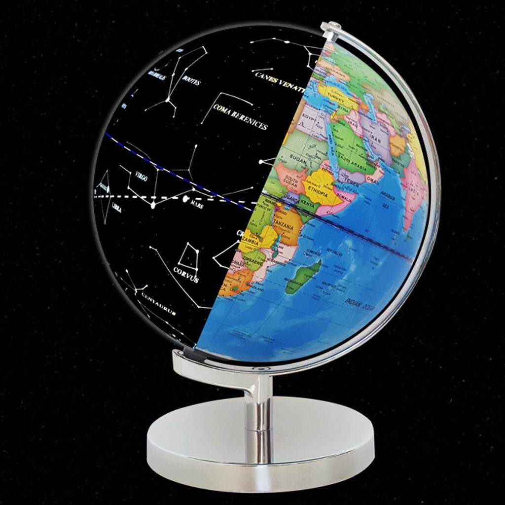 Gazechimp 3-in-1 LED Light World Earth Globe Map Geography Illuminated  Constellation Nightlight Educational Toy with Stand for Home Office Ideal