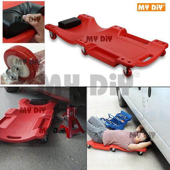 DIYHARDWARESTATION - High Quality 38 inch Mechanic Creeper Plastic Auto Car Repairing Creeper with 6 Wheels / Mechanics Car Creeper Workshop Garage Crawler