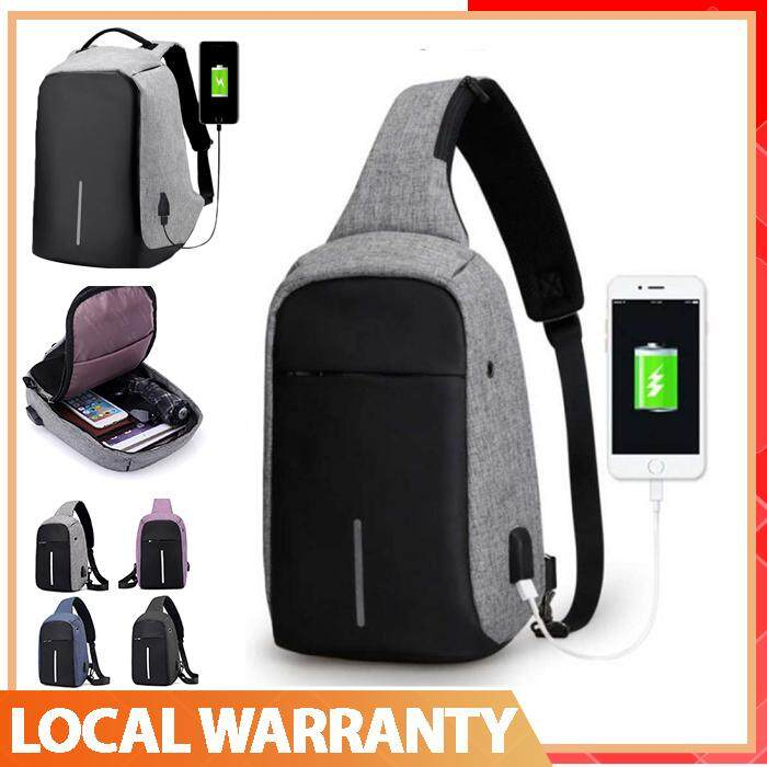 【high Quality】 Anti-Theft Usb Charging Waterproof Laptop Backpack Bag / Crossbody Bag Sling Bag By Superway.