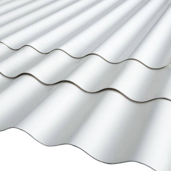 ALDERON Premium Corrugated Vinyl Roofing Sheet (RS ROMA) MATT WHITE