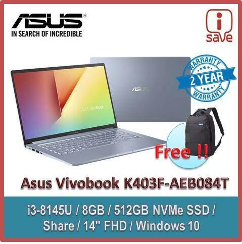Asus Vivobook K403F-AEB084T 14 FHD Laptop Sliver Blue ( I3-8145U, 8GB, 512GB SSD, Intel, W10 ) Malaysia