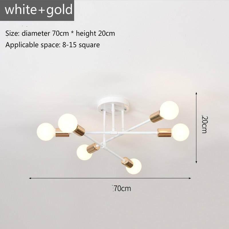 Lampu Modern Kreatif Lampu Gantung Led Besi Tempa Sederhana Lampu Plafon Led Ruang Tamu Kamar Tidur Ruang Belajar Lampu Hias Tunggal Dudukan Lampu E27 Gratis Pengiriman Warna Pilihan