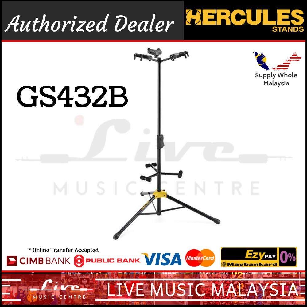 Hercules GS432B AGS Triple Guitar Stand with Foldable Backrest