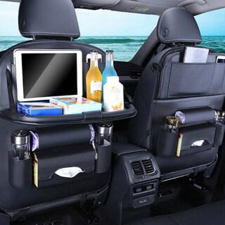 Amango Leather car seat back travel multi-pocket folding storage bag organizer holder thumbnail