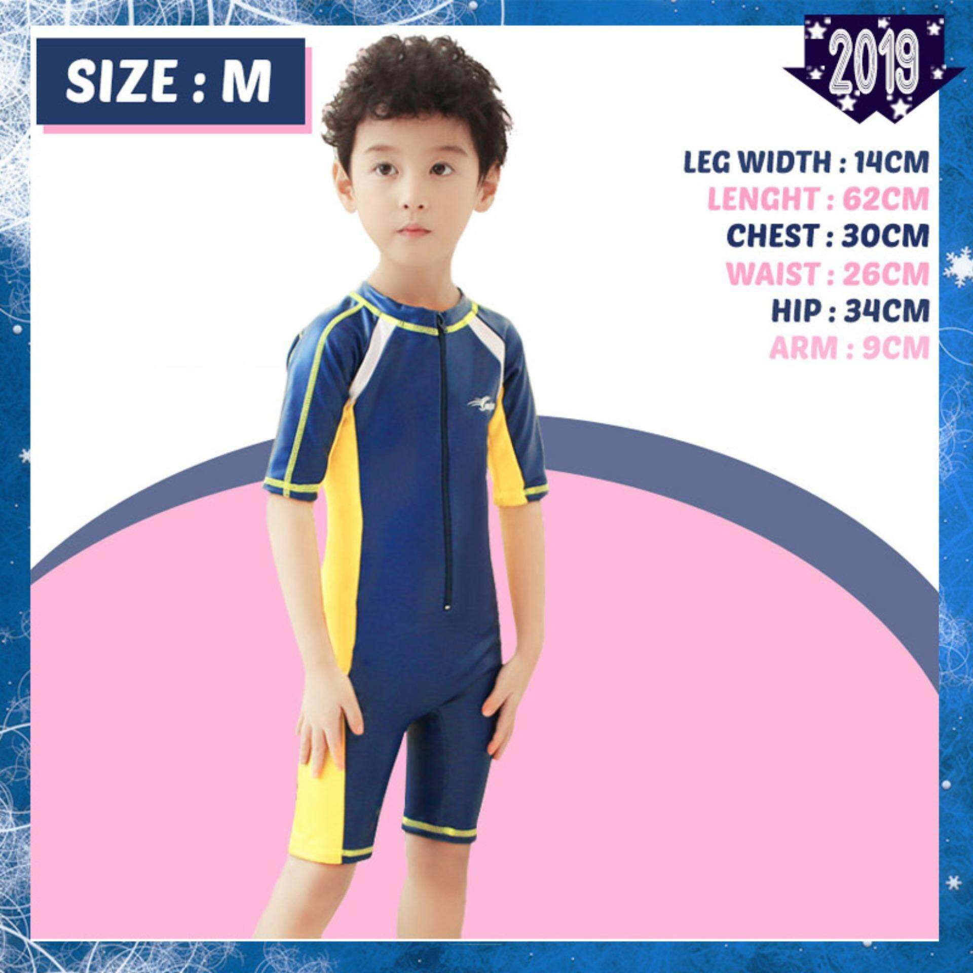 0bf9cfd1870 YOUYOU 36182 Children Swim Suit Kids Short Sleeved Dark Blue And Pink Swimsuit  Boys And Girls
