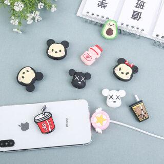 Cáp Cắn Silicon Sáng Tạo Hoạt Hình, Ống Bọc Bảo Vệ Cáp USB Vỏ Bảo Vệ Cáp Sạc Cáp Phù Hợp Cho Apple thumbnail