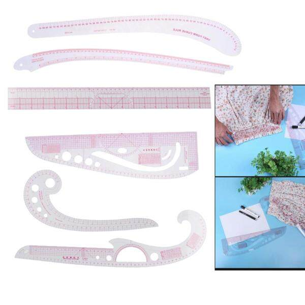 [YI] 6 Pcs Practical Sewing Pattern Making Tools French Curve Metric Ruler Pattern Grading Ruler for  Dressmaking Pattern Design