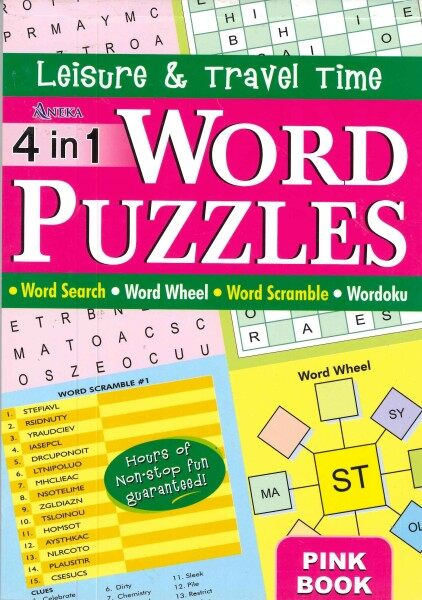Leisure & Travel Time - 4 IN 1 WORD PUZZLES (Pink Book) Malaysia
