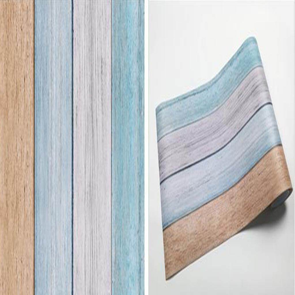 Blesiya RUSTIC EFFECTS WALL PAPER – 3D Wood Stripe Room Wall Covering Decor Mural