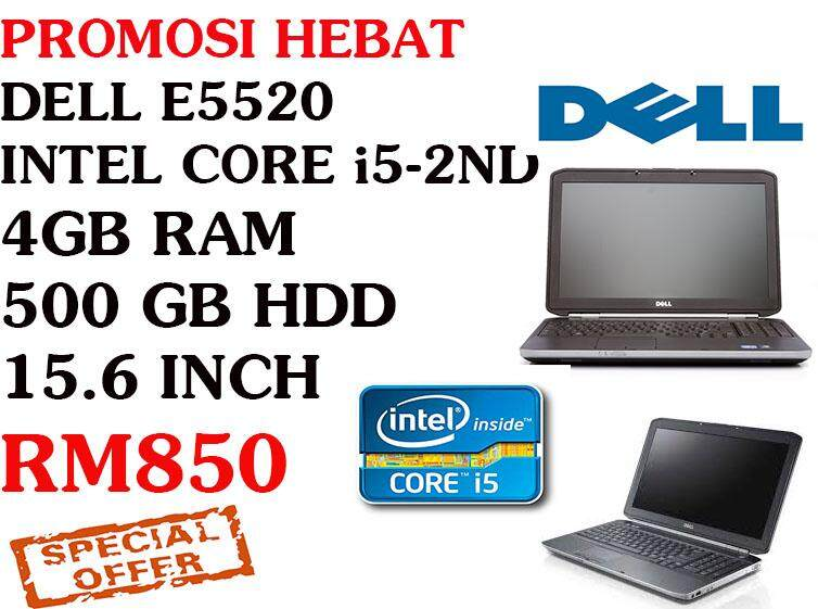 STUDENTS OFFER DELL LATITUDE E5520 i5-2nd gen 4 gb ram 500 gb hdd 15.6 inch Malaysia