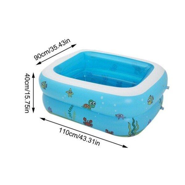 Bể Bơi Bơm Hơi Dày Bể Bơi Bơm Hơi An Toàn Bồn Tắm Em Bé Đồ Dùng Mùa Hè Cho Trẻ Em Trẻ Em Người Lớn 110*90Cm