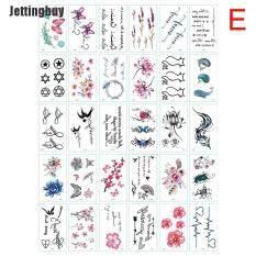 [Jettingbuy] 30 Cái/bộ Hoa Bướm Thư Hình Xăm Tạm Thời Dán Không Thấm Nước Nghệ Thuật Toàn Thân