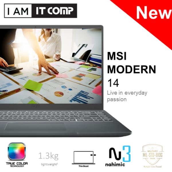 MSI Modern 14 B4MW-401 14 FHD 60Hz Laptop Grey (Ryzen 3/8GB/256GB/ATI/W10) FOC MSI SLEEVE Malaysia
