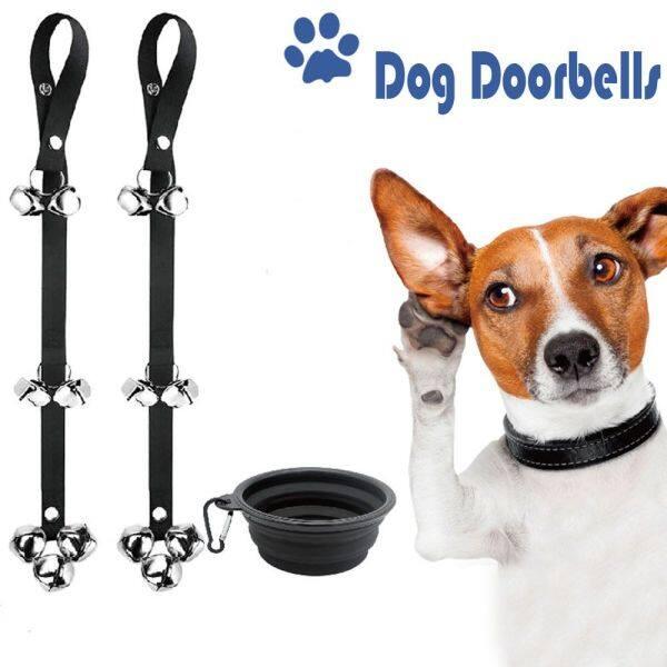 KECIFEIY5 Lớn Đồ cho chó Cún yêu Housetraining Potty Chuông cửa Chuông cửa cho chó Huấn luyện Chuông cho Thú cưng Dây đeo có thể điều chỉnh được