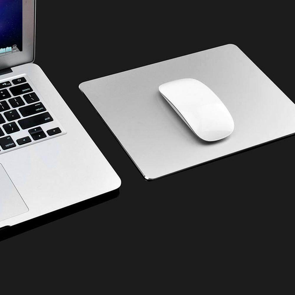 BuyInBulk Aluminium Mouse Pad, 220x180mm Rectangle Gaming Aluminium Metal Mouse Pad with Waterproof Non Slip Rubber Base and Frosted Surface Mousepad for Apple MackBook, Silver Gray/ Gold/ Rose Gold