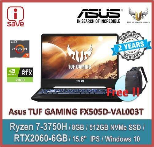 Asus TUF Gaming FX505D-VAL003T 15.6 FHD 120Hz IPS Laptop  ( Ryzen 7 3750H, 8GB, 512GB SSD, RTX2060 6GB, W10 ) Malaysia