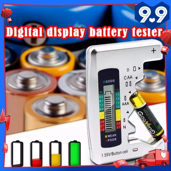 Universal Digital Battery Tester Battery Checker for all battery C AA AAA D N 9V 6F22 1.5V LCD Display