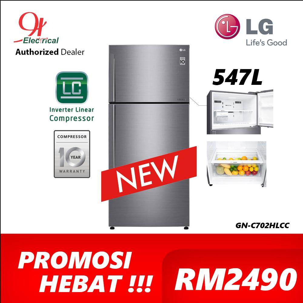 LG 547L Inverter Refrigerator with Door Cooling & 5 Star Energy Saving GN-C702HLCC