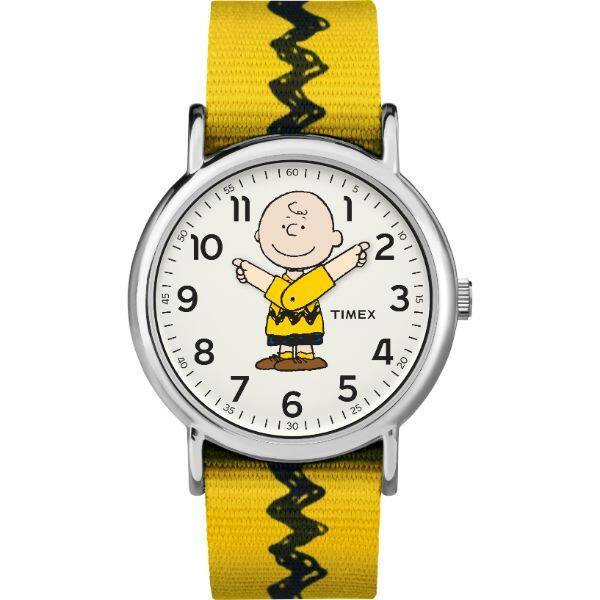 Timex x Peanuts Weekender™ - Charlie Brown 38mm/Yellow Strap - TW2R41100 Malaysia