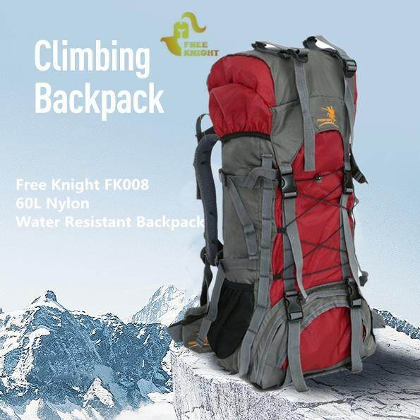 d397b59153 Original Free Knight FK008 60L Nylon Water Resistant Backpack Rucksack for  Mountaineering Camping Hiking Traveling