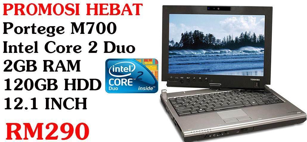 TOSHIBA PORTEGE M700 CORE 2 DUO 2GB RAM 120GB HDD 12.1 INCH Malaysia