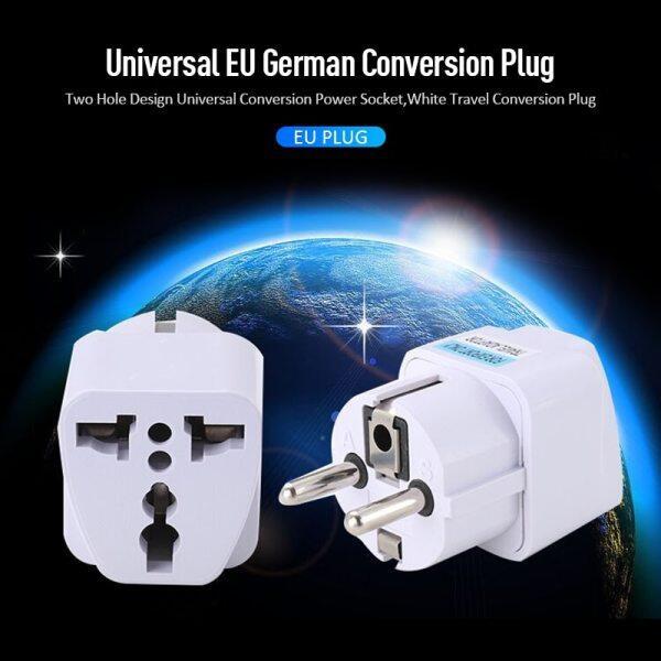 New 1 Cái Trắng Phích Cắm Đa Năng EU Adapter Châu Âu Đức Trung Quốc Ổ Cắm Điện Bộ Chuyển Đổi Du Lịch Phích Cắm Chuyển Đổi Nhà Thông Minh