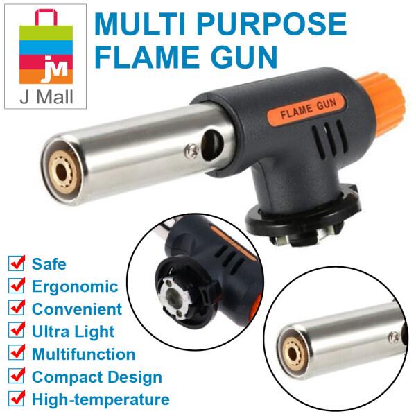 J MALL FLAME GUN MULTI PURPOSE TORCH IGNITION 807 Butane Burner Gas Fire Multi Purpose Welding Soldering Fire Lighter BBQ