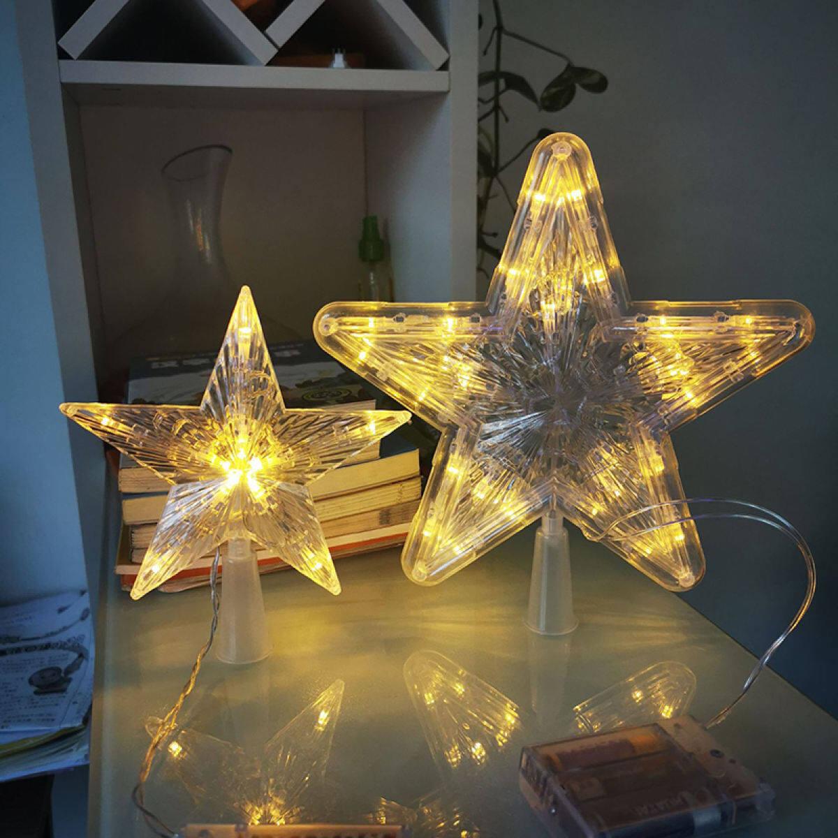 Sunflower Christmas Tree Topper Star Shiny Rotating Light Party Led Lamp Decoration Lazada